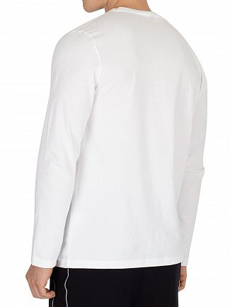 Ellesse Optic White Grazie Longsleeved Graphic T-Shirt