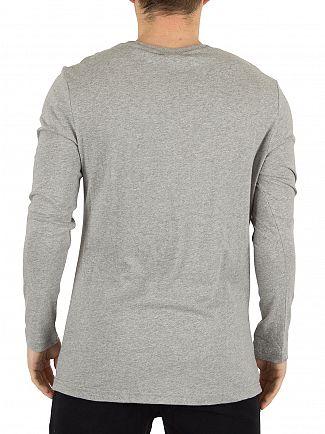 Ellesse Athletic Grey Marl Grazie Longsleeved Graphic T-Shirt