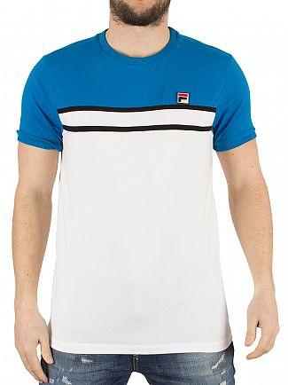Fila Vintage Imperial Blue Baldi Panel Logo T-Shirt