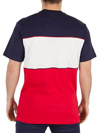 Fila Vintage Peacoat/White/Red Manchee Cut & Sew Graphic Panel T-Shirt