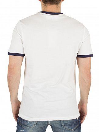 Fila Vintage White Marconi Tipped Logo T-Shirt