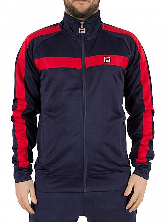 Fila Vintage Peacoat Renzo Tricot Funnel Neck Track Jacket