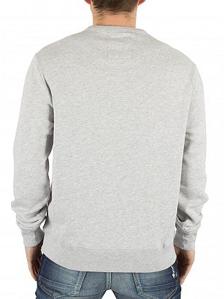 Franklin & Marshall Light Grey Melange Stamp Graphic Sweatshirt