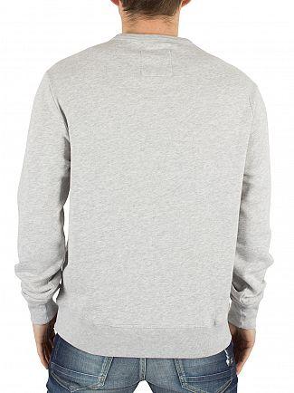 Franklin & Marshall Light Grey Melange Stamp Graphic Sweatshirt