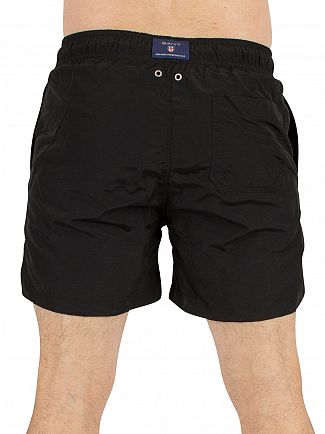 Gant Black Logo Swim Shorts