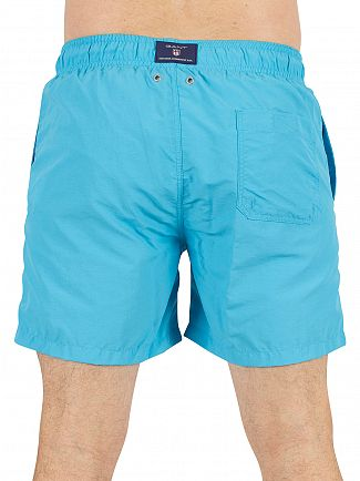 Gant Sage Blue Logo Swim Shorts