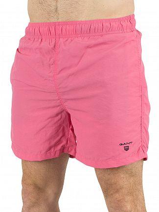 Gant Bright Magenta Logo Swim Shorts