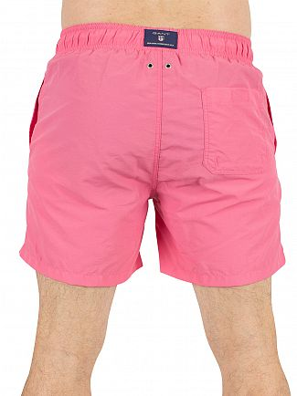 Gant Bright Magenta Logo Swim Shorts