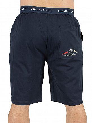 Gant Navy Logo Wasit Pyjama Shorts