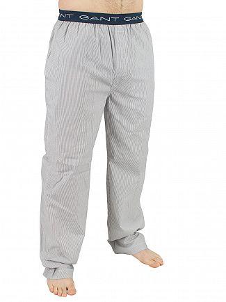 Gant Navy West Haven Stripe Logo Pyjama Bottoms