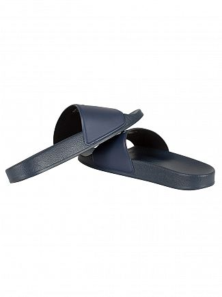 G-Star Dark Navy Cart Slide Logo Flip Flops