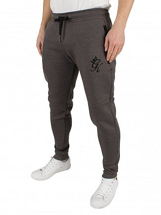 Gym King Black SNP Performance Logo Joggers