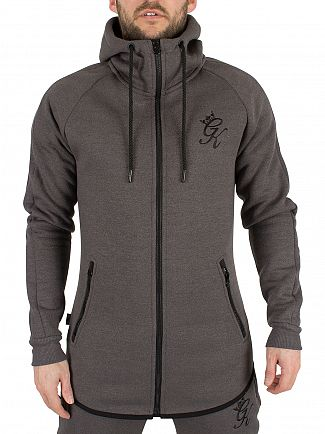 Gym King Black SNP Performance Zip Logo Hoodie