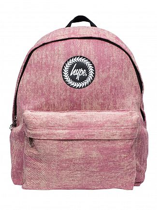 Hype Burgundy Ashley Wash Denim Logo Backpack