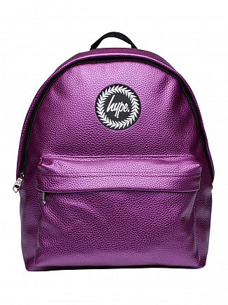 Hype Purple Cassy Textured Logo Backpack