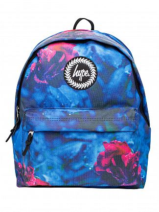 Hype Blue Midnight Rose Logo Backpack