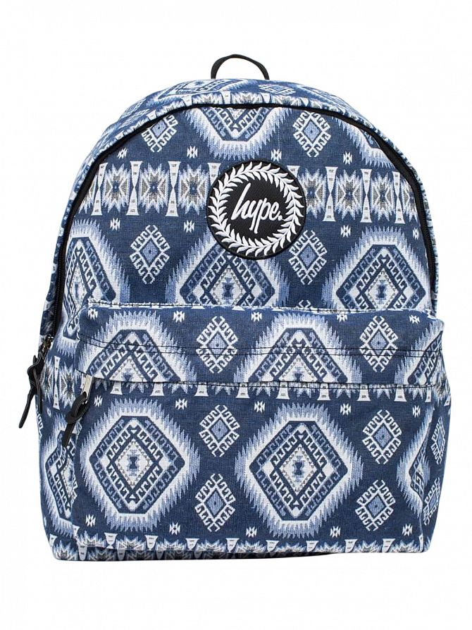 Hype Blue Native Pattern Logo Backpack