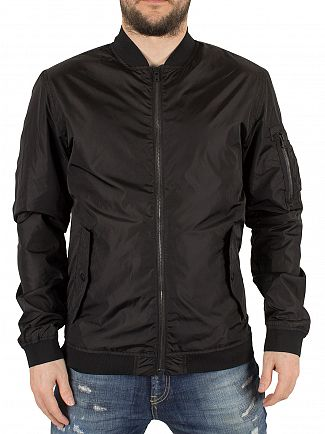 Jack & Jones Black Justin Bomber Jacket