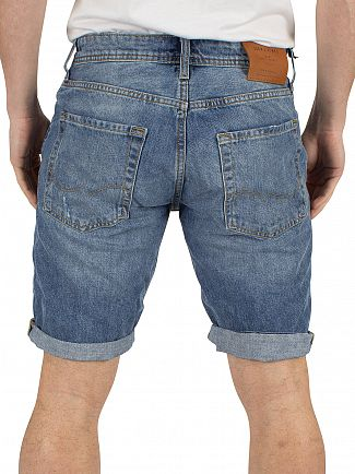 Jack & Jones Blue Denim Rick Original 105 Regular Fit Denim Shorts