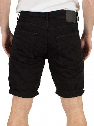 Jack & Jones Black Denim Rick Original 211 Regular Fit Shorts