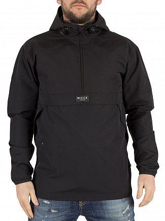 Nicce London Black Zip Logo Kagoule Jacket