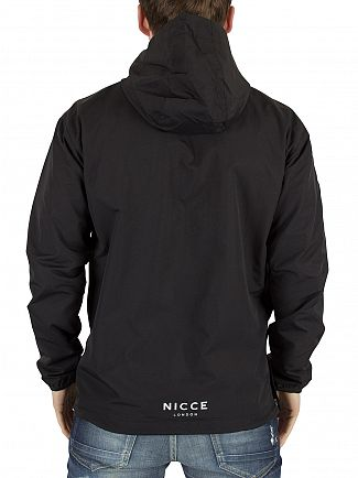 Nicce London Black Zip Logo Kagoule Jacket