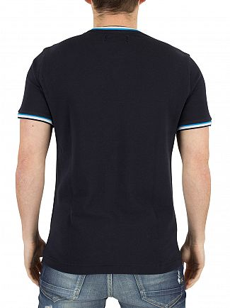 Original Penguin Dark Sapphire Poly Tipped Logo Athletic T-Shirt