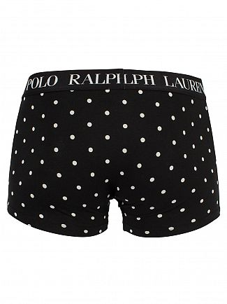 Polo Ralph Lauren Polo Black Polka Dot Classic Pouch Stretch Cotton Trunks
