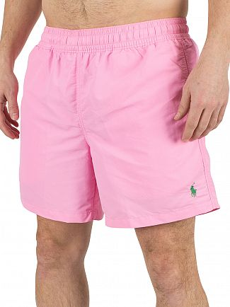 Polo Ralph Lauren Harbor Pink Hawaiian Logo Swim Shorts