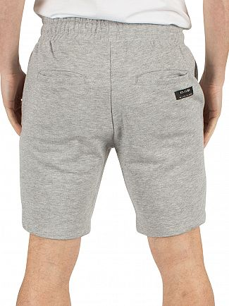 Religion Grey Marl Badge Logo Shorts
