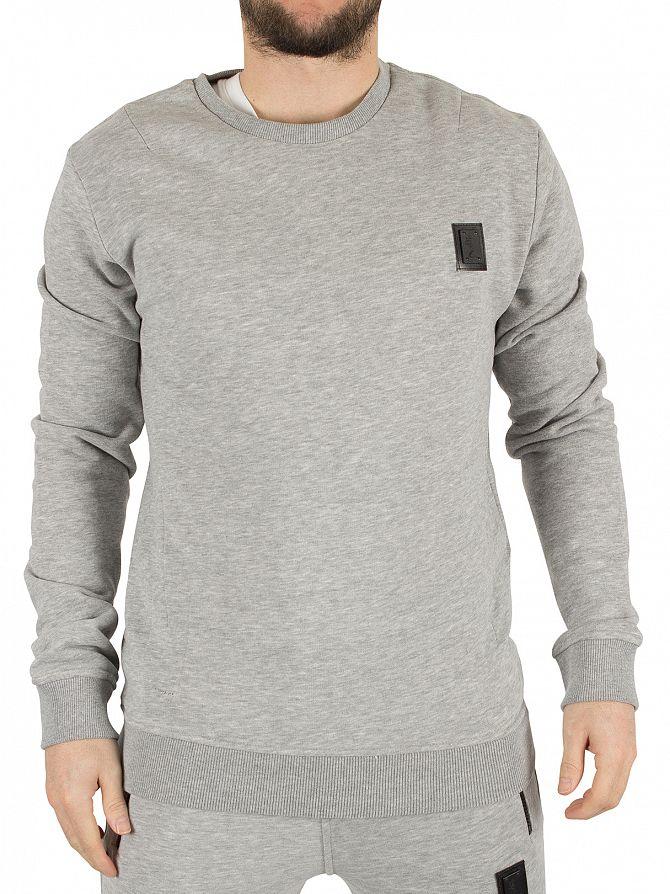 Religion Grey Marl Badge Logo Sweatshirt