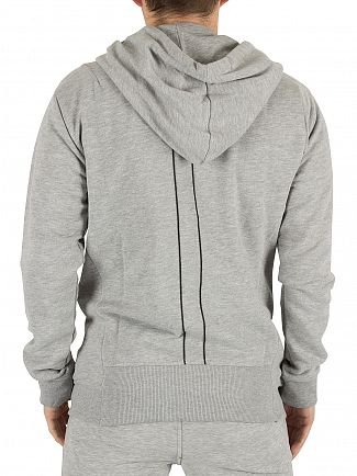 Religion Grey Marl Badge Zippy Logo Hoodie