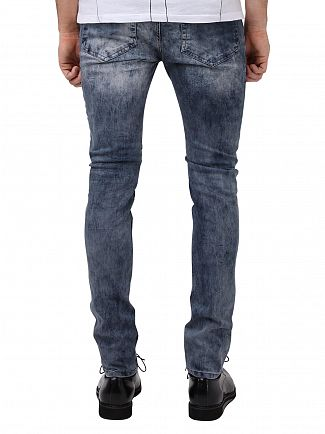 Religion Opium Wash Crypt Washed Skinny Fit Jeans