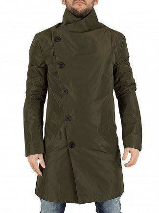 Religion Khaki Nord Asymmetric Button Up Coat