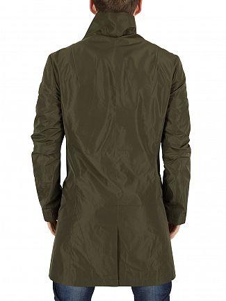 Religion Khaki Nord Asymmetric Button Up Coat