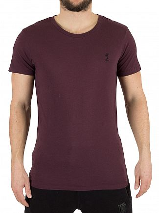 Religion Bordeaux Plain Logo T-Shirt