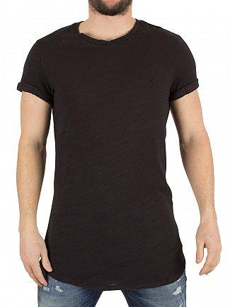 Religion Washed Black Rustique Led Wash Logo T-Shirt