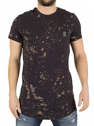 Religion Washed Black Spirit Speckle T-Shirt