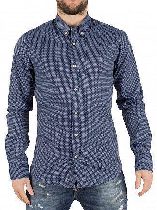 Scotch & Soda Navy All Over Pattern Shirt