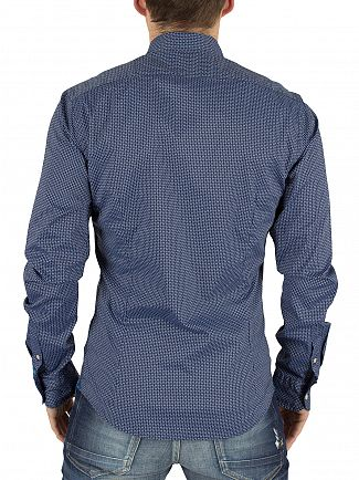 Scotch & Soda Navy All Over Pattern Shirt