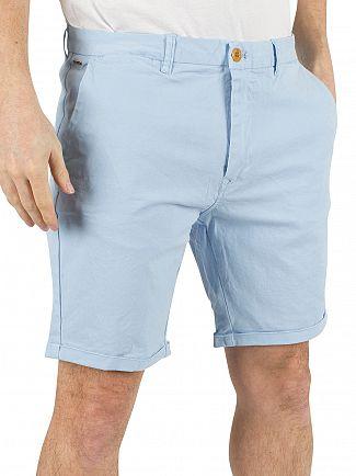 Scotch & Soda Blue Classic Dyed Chino Shorts