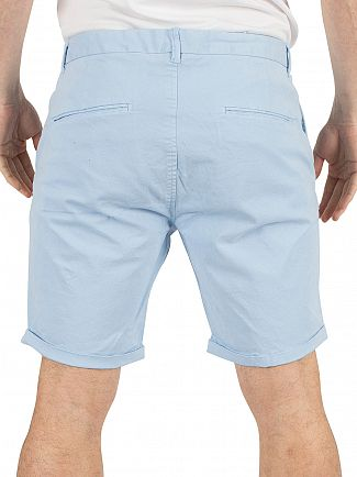 Scotch & Soda Blue Classic Dyed Chino Shorts