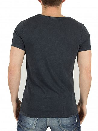 Scotch & Soda Washed Black Home Bound Graphic T-Shirt
