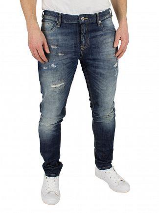 Scotch & Soda Royal Bliss Skim Skinny Fit Ripped Jeans