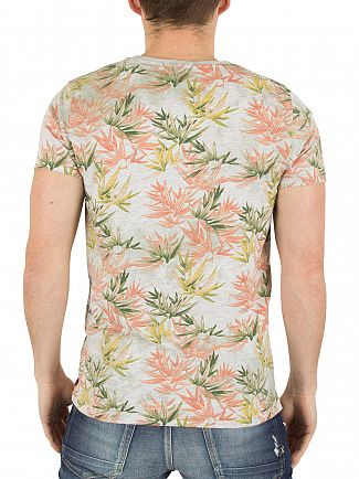 Scotch & Soda Multi Tie-Dyed Floral Sublimation T-Shirt