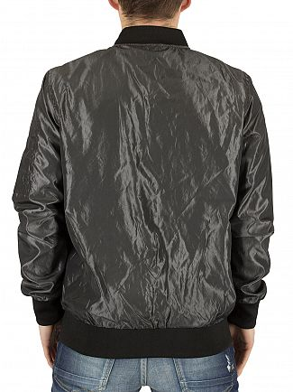 Sik Silk Grey Elevate Logo Bomber Jacket