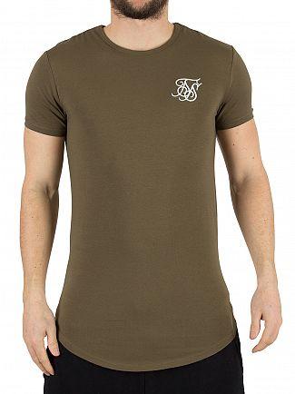 Sik Silk Khaki Gym Logo T-Shirt