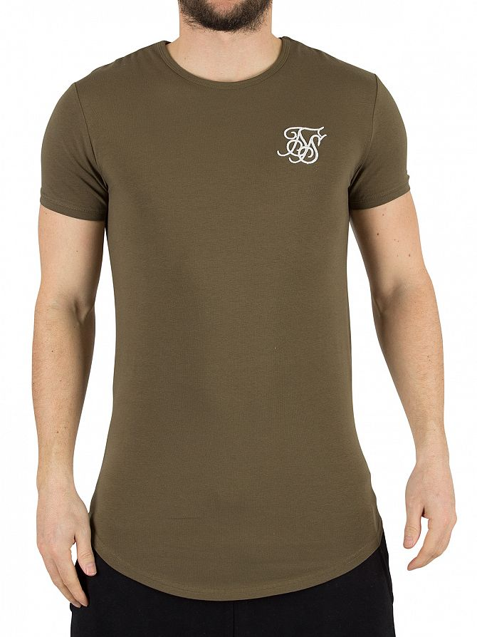 Sik Silk Khaki Gym Logo T-Shirt