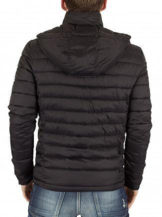 Superdry Black Fuji Double Zip Puffa Jacket