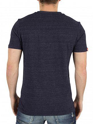 Superdry Atlantic Navy Grit Orange Label Vintage Logo T-Shirt